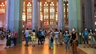 , Coronavirus: Barcelona's Sagrada Familia basilica reopens to key workers