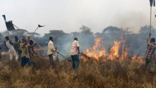 , Kenyan military deployed to fight fire in Tsavo park