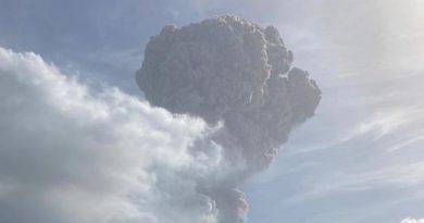 Explosive eruption sends ash column six miles into the sky as volcano rocks Caribbean island   World News