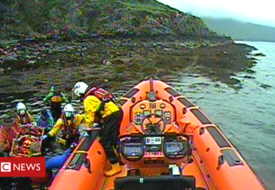 Kayaker aged 77 in lifeboat rescue after fall on island off Skye