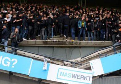 Stand buckles at NEC Nijmegen's Stadion De Goffert after Vitesse victory