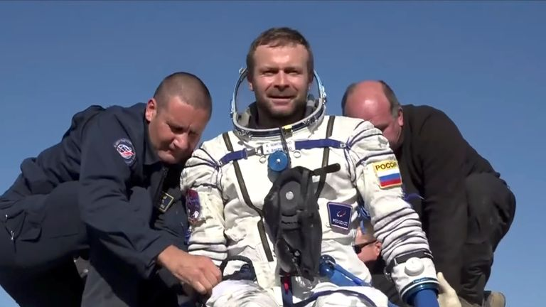 Russian actress, director and cosmonaut return to Earth after 12 days on International Space Station making a movie   World News